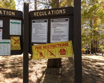 no campfires sign at los padres national forest mcgill campground