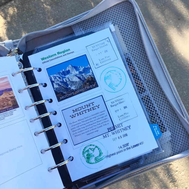 national park passport mt whitney stamp