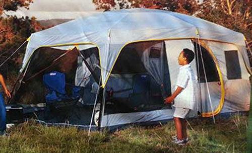 Tent & Review: Coleman Weathermaster II Screened 10-person 16u2032 X 10u2032 Tent ...