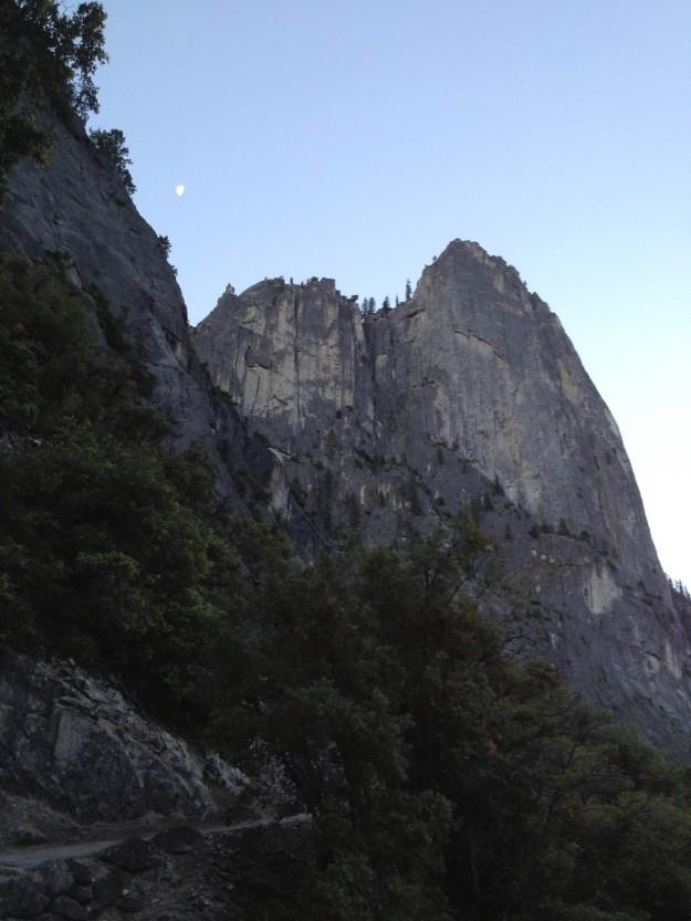 moon cathedral peak yosemite