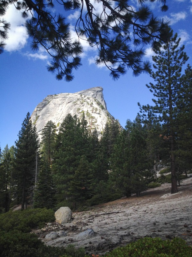 half dome behind subdome