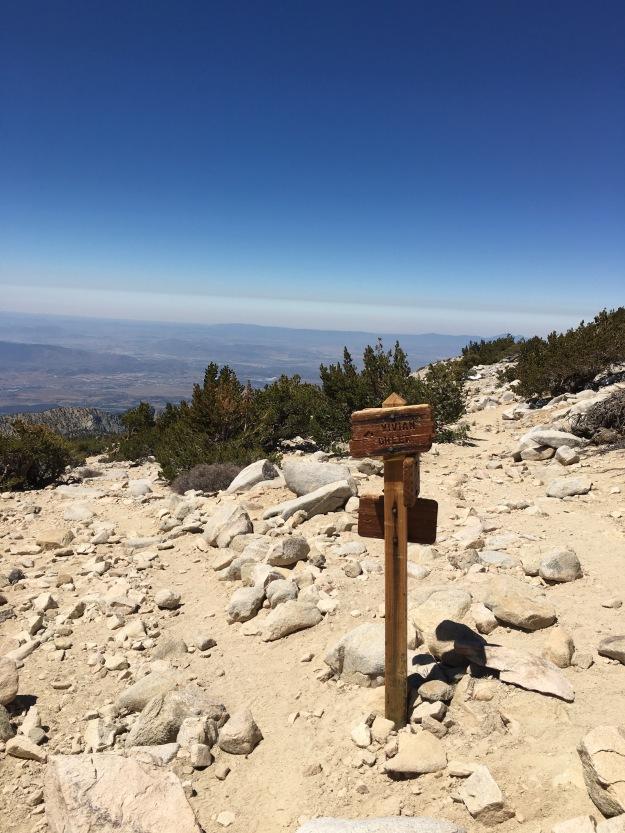 junction sign mt san gorgonio summit