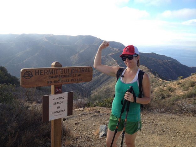 Heather hiking catalina
